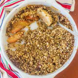 Apple and Plum Oatmeal Crumble