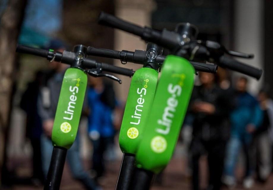 I monopattici elettrici Lime disponibili con Uber Taxi