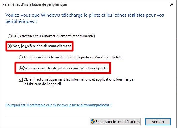 Windows10 - Je préfère choisir manuellement