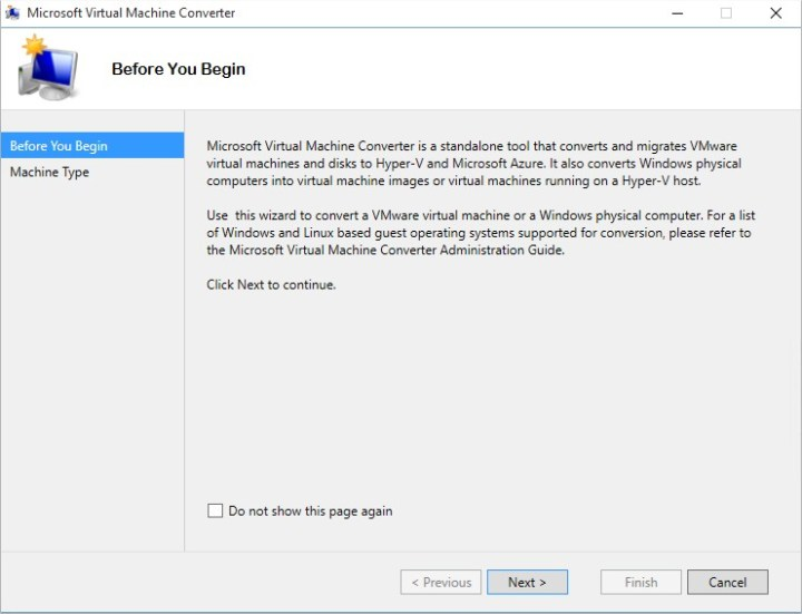 Microsoft Virtual Machine Converter - Image 1