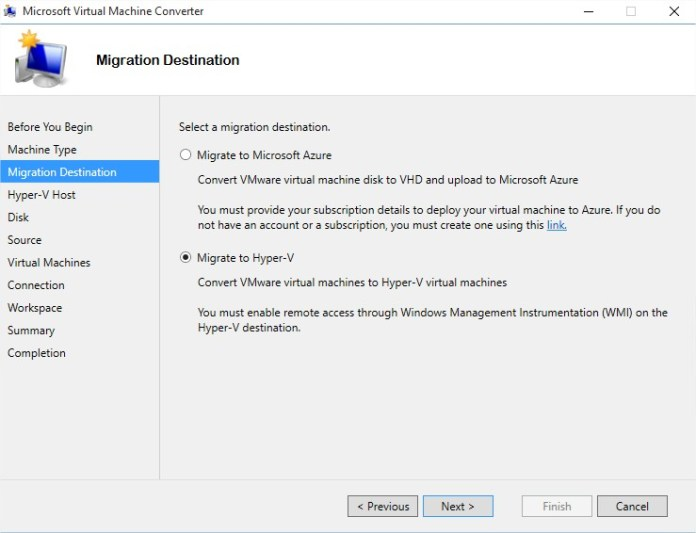 Microsoft Virtual Machine Converter - Image 3