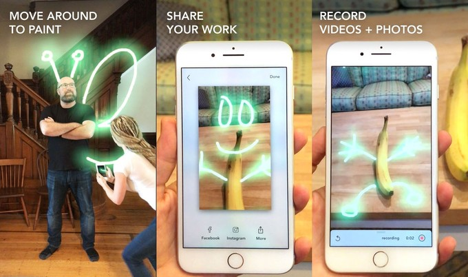 Lightspace - أفضل 10 تطبيقات وألعاب الواقع المعزز للآيفون والآيباد