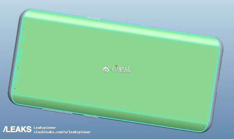 galaxy s9 cad leaked - تسريب صور جديدة توضح شكل وتصميم هاتف سامسونج جلاكسي S9 الرائد المنتظر