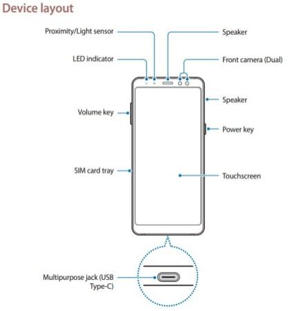 Samsung Galaxy A8 2018 layout 2 - بالفيديو والصور: استعراض تصميم ومواصفات جوالي Galaxy A8 و +Galaxy A8 إصدار 2018