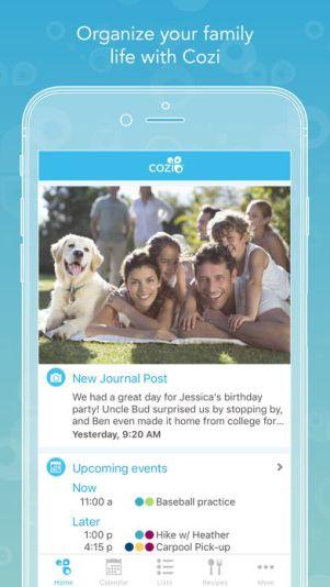 """392x696bb 5 - تطبيق Cozi - أفضل تطبيق """"أسري"""" في 2017 لمشاركة المناسبات وقوائم التسوق بين أفراد الأسرة"""