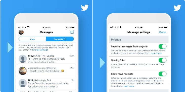 Screenshot 2018 08 23 Twitter on Twitter - تويتر تطلق تحديث جديد لخاصية الرسائل تتيح طلبات الرسائل للغير متابَعين