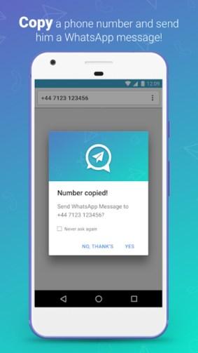 2.webp  2 - تطبيق Quick Message لمراسلة أي شخص بالواتساب دون إضافته كجهة اتصال