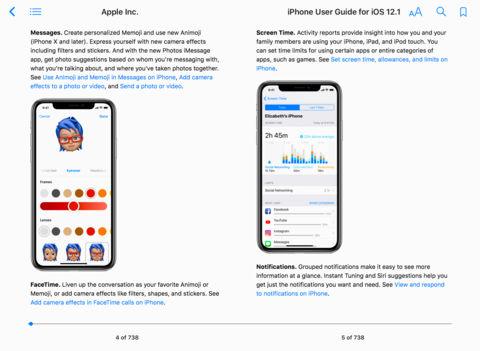 ببب - آبل تكشف عن iPhone User Guide for iOS 12.1 المجاني على آيتيونز لشرح مزايا iOS 12.1