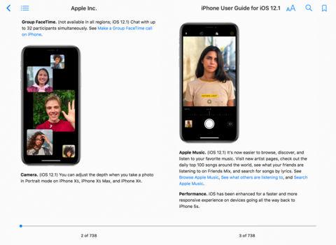 ييي - آبل تكشف عن iPhone User Guide for iOS 12.1 المجاني على آيتيونز لشرح مزايا iOS 12.1