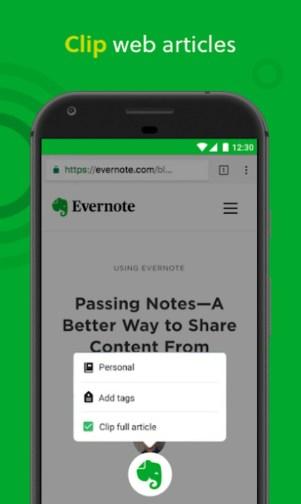 3.webp  3 - تطبيق Evernote الأشهر لتسجيل الملاحظات ومزامنتها، متاح لأجهزة الآندرويد والـ iOS