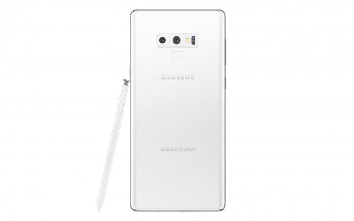 Galaxy Note 9 - سامسونج تكشف الستار رسمياً عن النسخة البيضاء الرائعة جوال Galaxy Note 9 مع جائزة