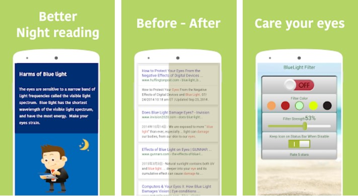 Screenshot 5 - التطبيق المميز لحماية العينين من الضوء الأزرق للشاشة لهواتف الأندرويد
