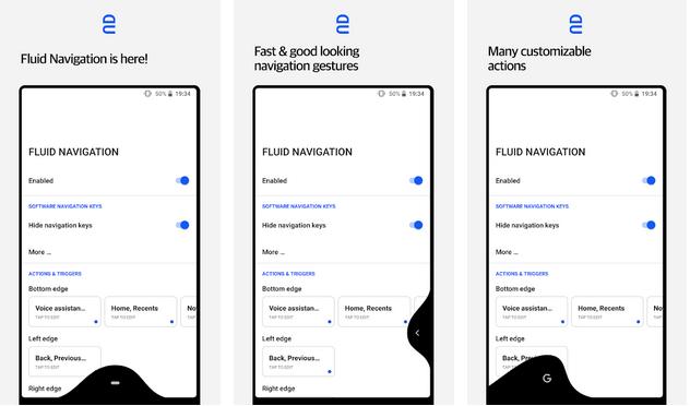 ghghf - التطبيق الرائع Navigation Gestures للاستمتاع بإيماءات آيفون X وأندرويد P