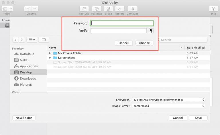 3 1 - بالصور.. تعرف على كيفية تشفير وحماية المجلدات بكلمة مرور على حاسب macOS