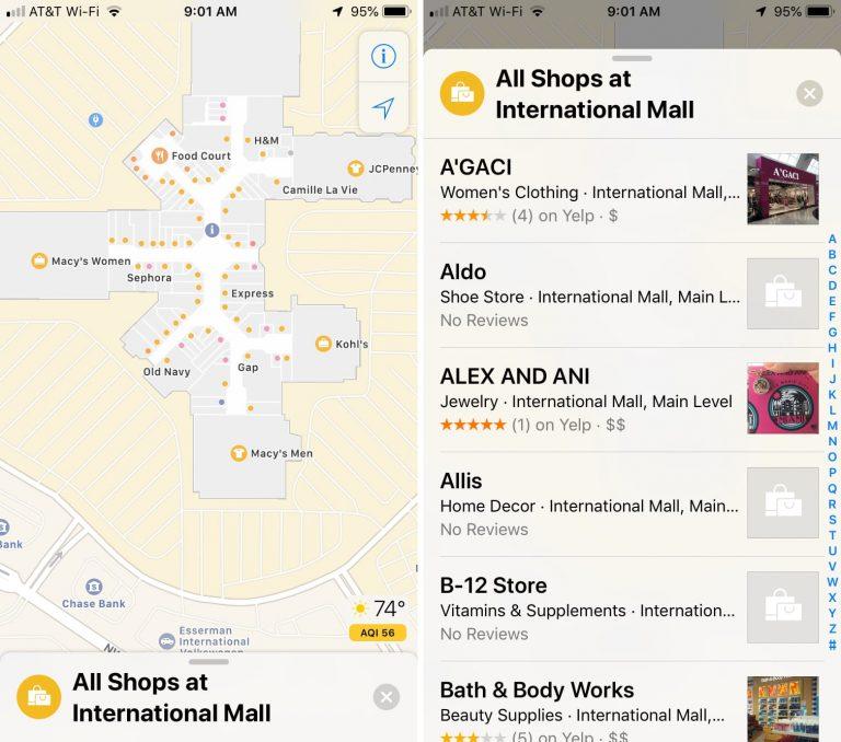 44 - بالصور.. تعرف على كيفية استخدام الخرائط الداخلية للمطارات ومراكز التسوق في خرائط آبل