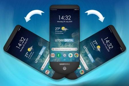 Samsung 4 - شركة سامسونج تسجل براءة اختراع جديدة لـ جوال ذكي بثلاثة شاشات بهذا التصميم!