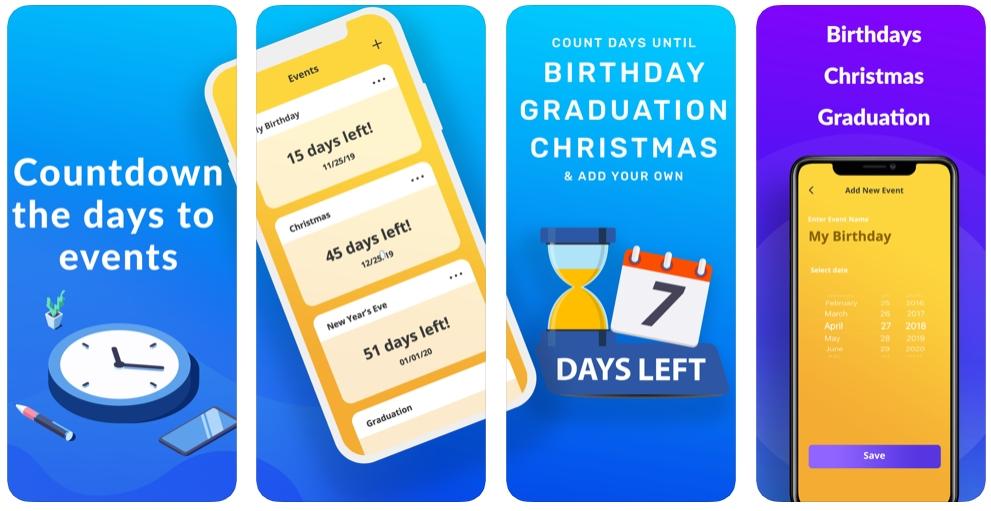 2019 11 30 22 01 31 Countdown+ on the App Store - تطبيق Countdown لإضافة عد تنازلي للمناسبات السنوية حتى لا ننساها