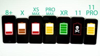 صورة فيديو.. مقارنة بين بطاريات جوالات آيفون بداية من 8 بلس وحتى آيفون 11 برو ماكس