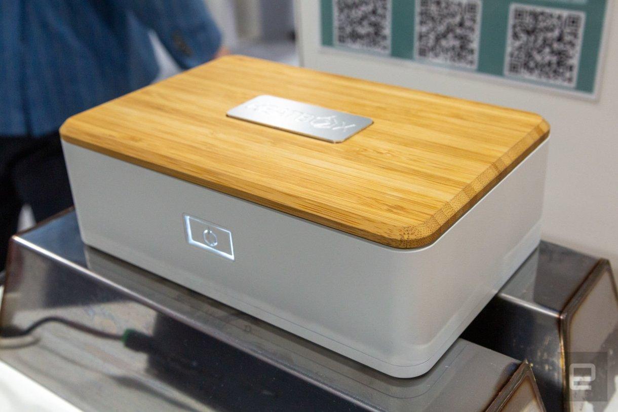 dims - صندوق غذاء Heatbox: صندوق قابل للشحن يسخن طعامك عن طريق البخار