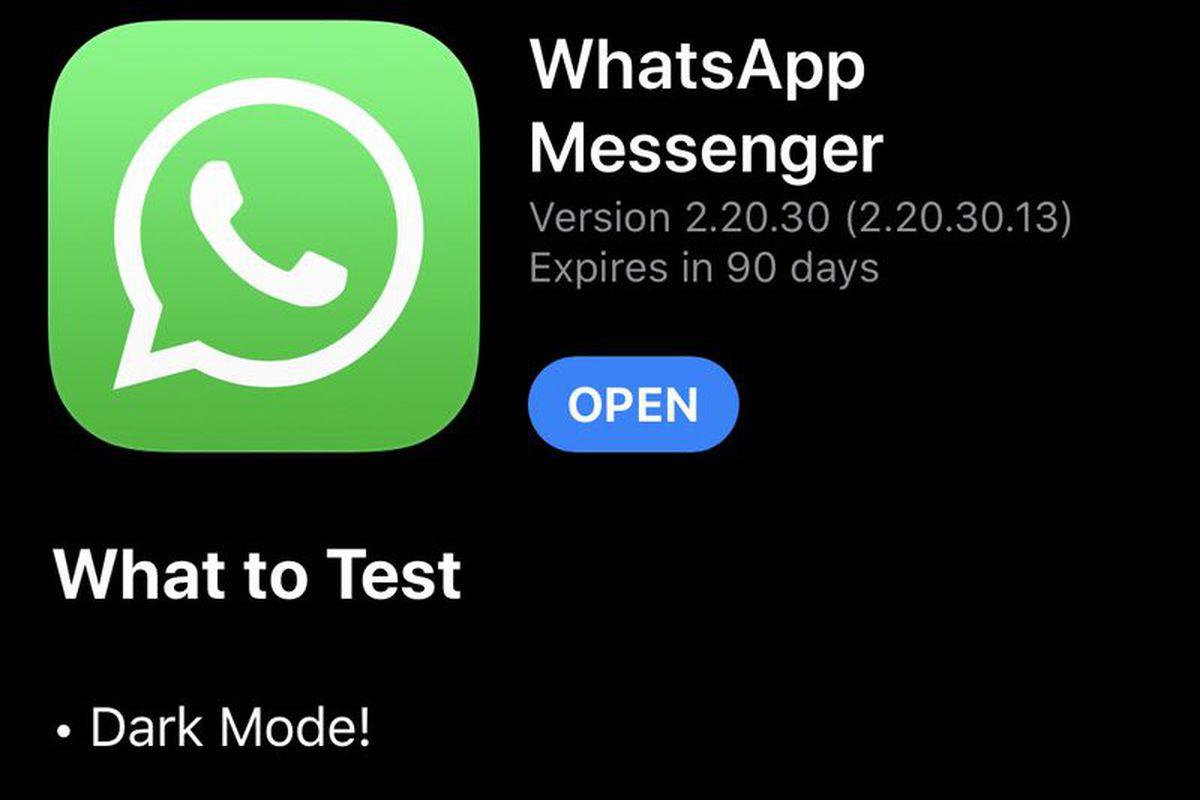 dark mode whatsapp.0 - أخيرا.. تطبيق الواتساب يدعم الوضع الداكن على جوالات آيفون في أحدث إصدارات التطبيق