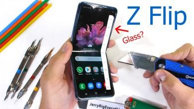 شاشة Galaxy Z Flip