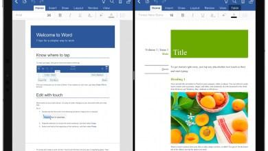 صورة تطبيق Word و Powerpoint يدعمان ميزة انقسم العرض على الآيباد