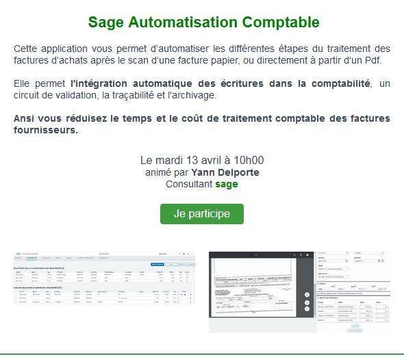 Sage Automatisation Comptable