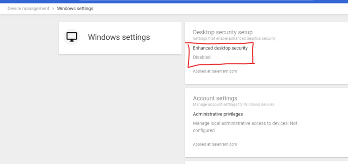 g suite admin console enhanced desktop security
