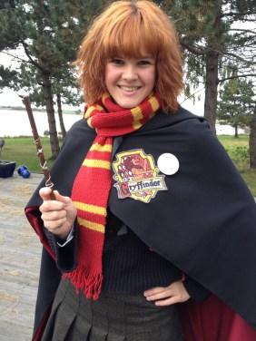 Andrea er Hermoine på Harry Potter-festivalen i Odense for noen år siden