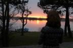 En herlig dag er snart over - nydelig solnedgang nytes