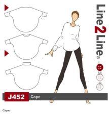 """En enkel, men elegant kappe. Mønsteret er fra Line""""Line og heter J452"""