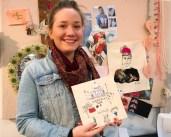 """Harriet tittet innom på standen og signerte samtidig sin bok """"In Stitch You - India"""" som jeg kjøpte av henne"""