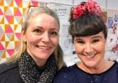En meget inspirerende dame tittet innom - Designer og forfatter Helene Gravenhorst. Hun holder på med noe nytt og spennende så vi har noe å glede oss til...