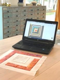 Mønstreret til quilten kan kjøpes som download - anbefaler å skrive ut mønstreret på papir i stedet for å ha det på pc'en