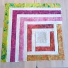 Utrolig morsomt å se hvordan quilten tar form og om fargene som er valgt passer sammen