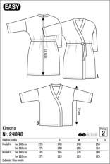 Det finnes flere kimono-mønster å velge i mellom - dette har nr 24040 og har en moderat vidde