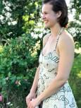 Kjolens grafiske mønster gir et sofistikert look