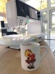 Quilten ble sydd under hetebølgen i sommer - det betød tidlige morgener på Syskolen med en god kopp kaffe før varmen ble for kvelende