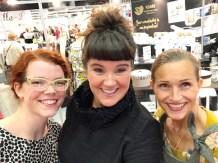 Det er et privilegium å møte superkreative mennesker - her er jeg sammen med Mari og Solveig