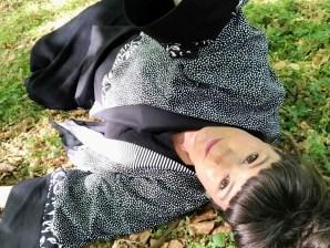 Photoshoot i skogen med ny kimono gir ro i sjelen