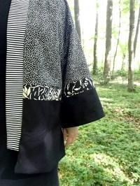 Stoffene i kimonoen er 100% bomullstoffer fra Butik Kastanja - jeg brukte fire forskjellige stoffer