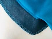 Når belegget er sydd på så klipp sømmonnet ned til ca 0,5 cm - klipp et hakk i spissen midt foran