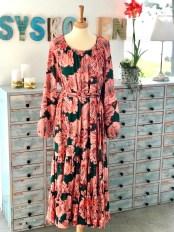 Ultrafeminin kjole i vevd viskosestoff