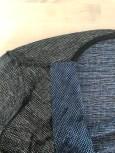 Her ser du halsringningen fra vrangsiden