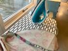 Foldeskjørt med stikklommer, linning og usynlig glidelås
