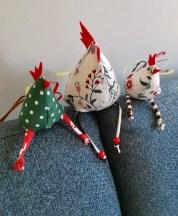 Disse søte hønene er laget av Inger-Johanne Aspaas
