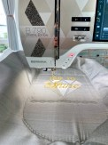 Jeg var veldig spent på rammen som ble skapt ved hjelp av mønstersømmene i symaskinen