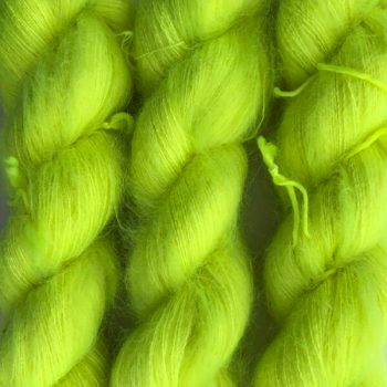Sysleriget Silk Mohair Neongul