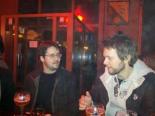 Nicolas and Kristian at the foggy social event