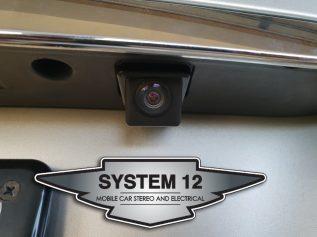 Factory style stalk mount reverse camera